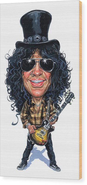 Slash Wood Print by Art