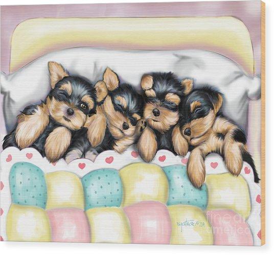 Sleeping Babies Wood Print