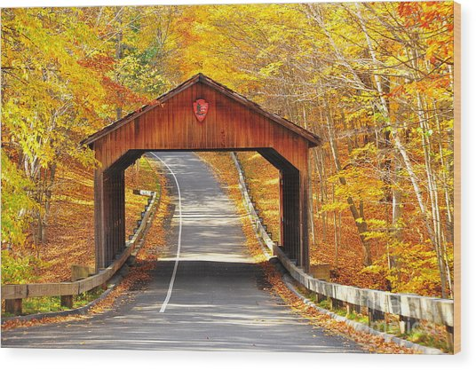 Sleeping Bear National Lakeshore Covered Bridge Wood Print