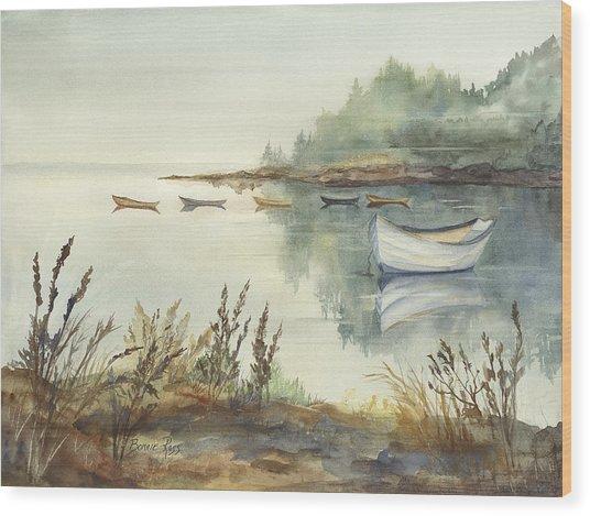 Sleeping Dories Wood Print