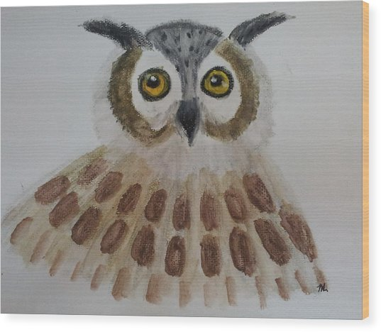 Sleepless Society Wood Print by Watcharee Suebkhajorn