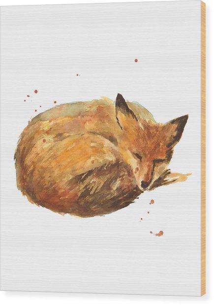 Sleepyhead Wood Print