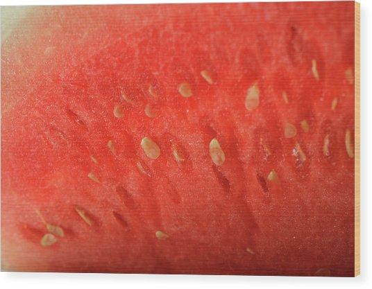 Slice Of Watermelon (detail) Wood Print