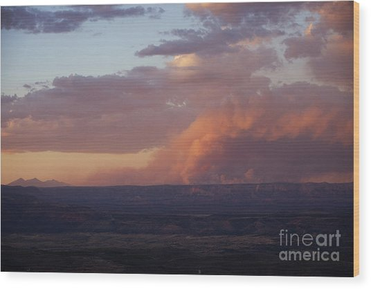 Slide Fire Sunset Wood Print