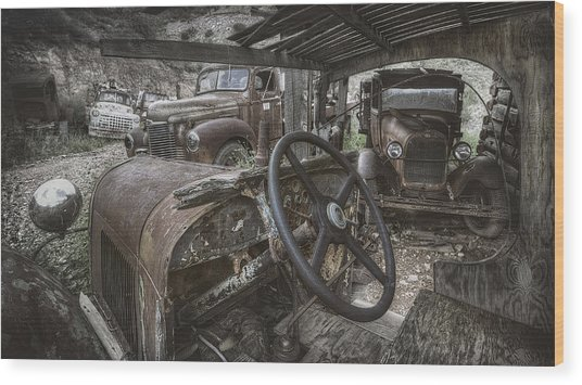 Slipping Away Wood Print