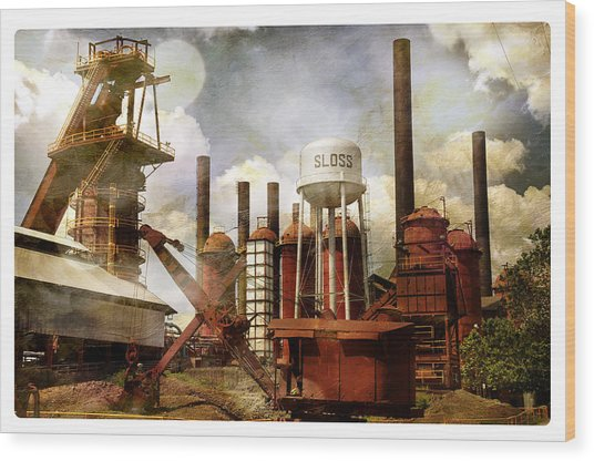 Sloss Furnace II Wood Print
