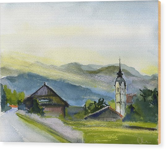 Slovenia. Vrhnika. Wood Print by Lelia Sorokina