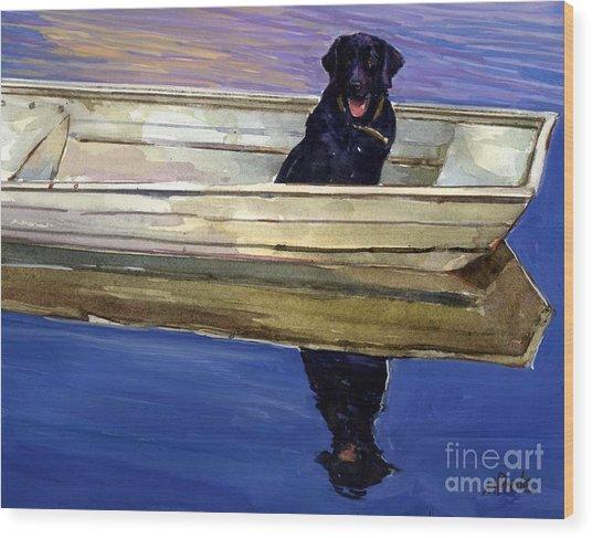 Slow Boat Wood Print