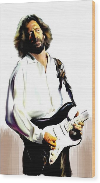 Slow Hand  Eric Clapton Wood Print