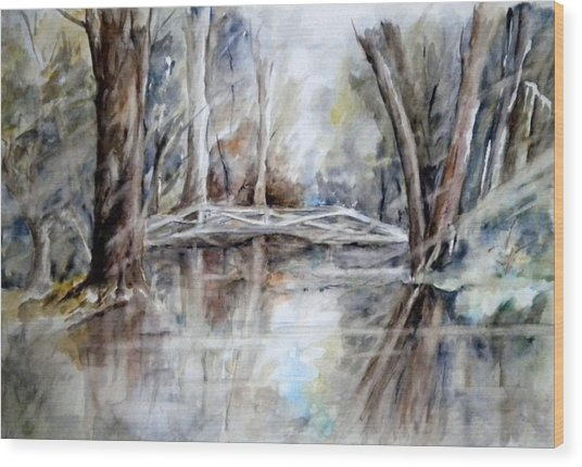 Slow Waters Wood Print
