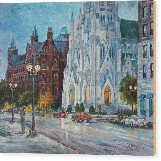 Slu And College Church Wood Print