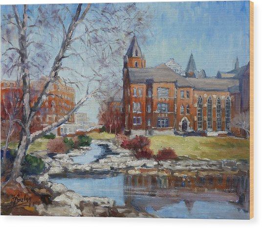Slu Campus Cook Hall Wood Print