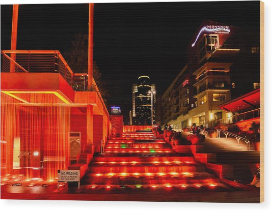 Smale Park At Night Wood Print