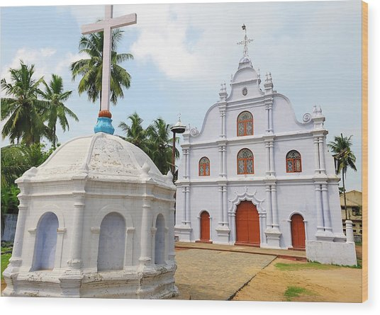 Small Church, Kochi (cochin Wood Print