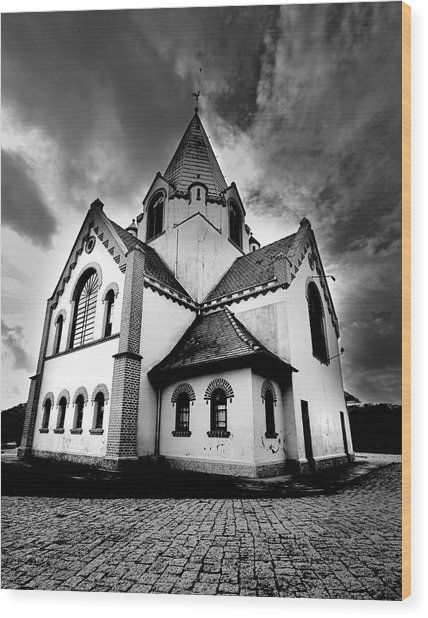 Small Church Wood Print