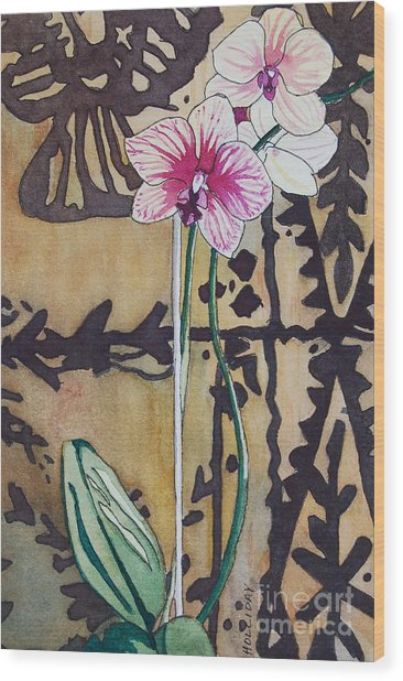 Small Orchids Wood Print