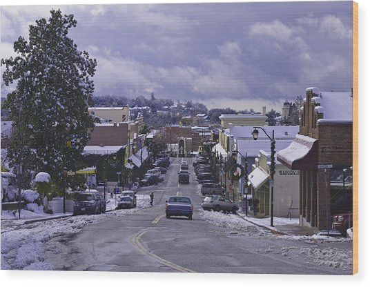 Wood Print featuring the photograph Small Town America by Sherri Meyer