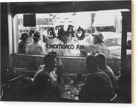 Small Town Cafe, 1941 Wood Print by Granger