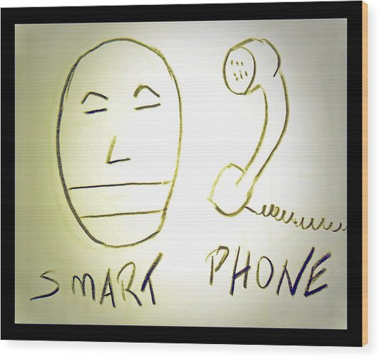 Smartphone Wood Print by Beto Machado