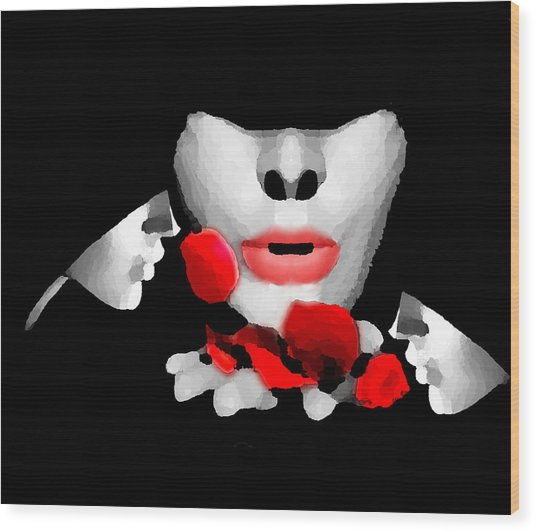 Smell The Roses 3 Wood Print by Bruce Iorio