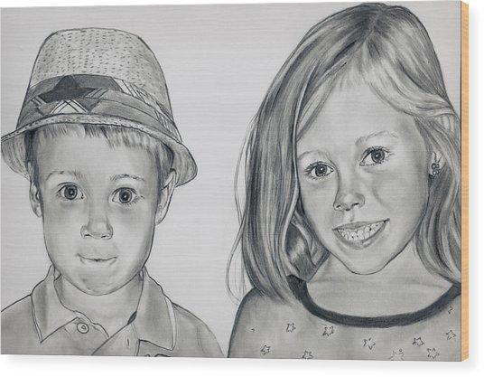 Smile Jimmy Wood Print