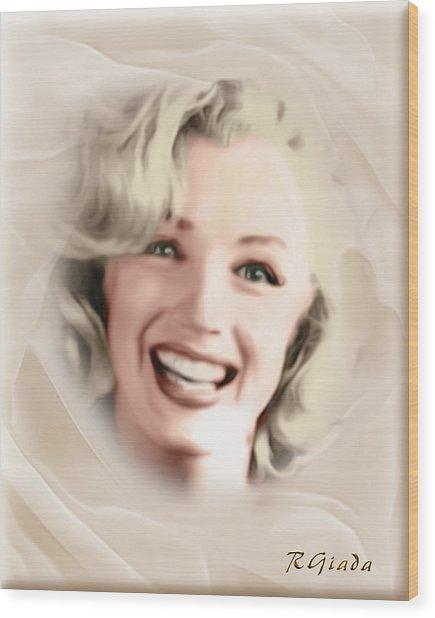 Smile Of A Goddess Wood Print
