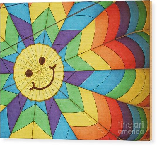 Smiley Face Balloon Wood Print