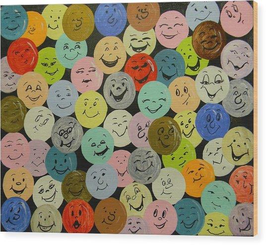 Smilies Wood Print