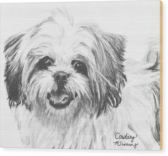 Smiling Shih Tzu Wood Print