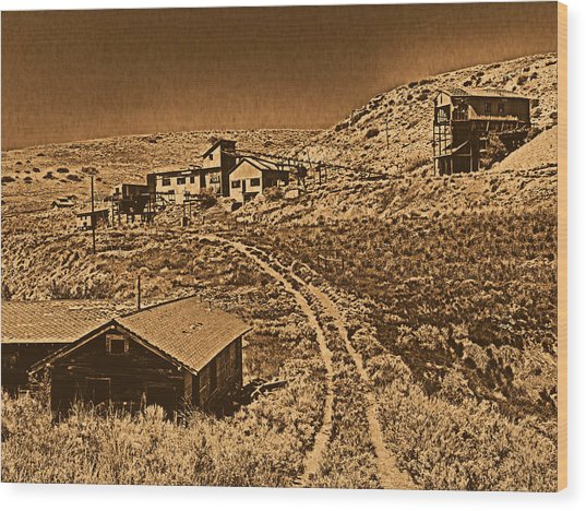Smith Mine Wood Print by Leland D Howard