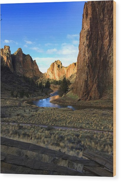 Smith Rock December Morning 3 Wood Print