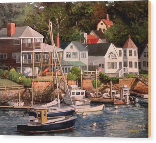 Smiths Cove Gloucester Wood Print
