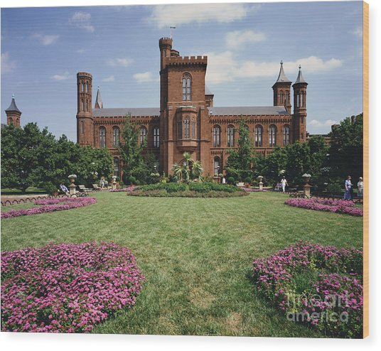 Smithsonian Institution Building Wood Print