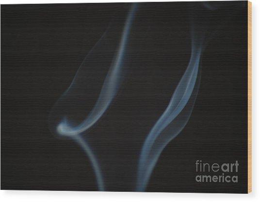 Smoke 3 Wood Print