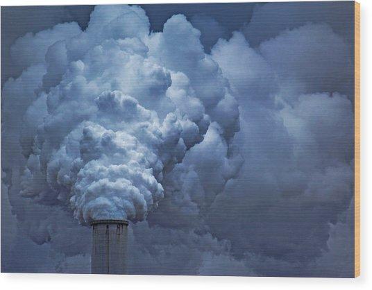 Smoke Billows Wood Print