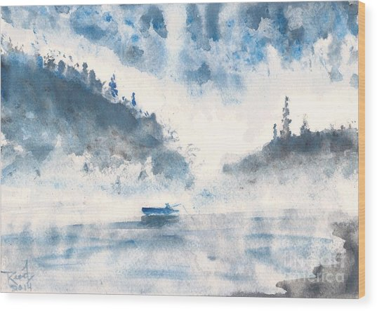 Smoke On The Water  Wood Print