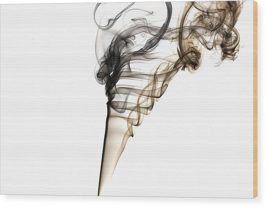Smoke Trails Wood Print