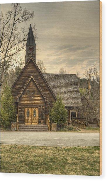 Smokey Mountain Love Chapel 2 Wood Print