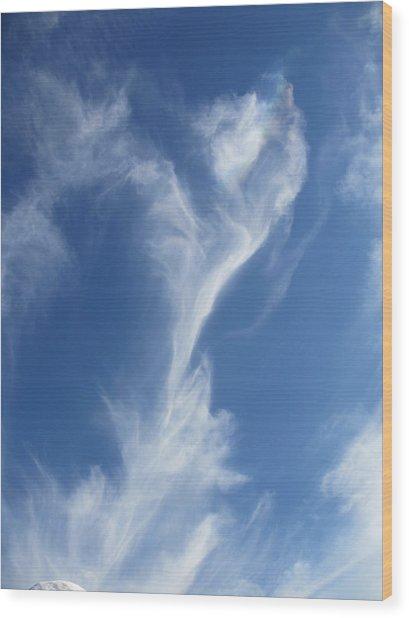 Smoking Blue Wood Print by Steven Hart