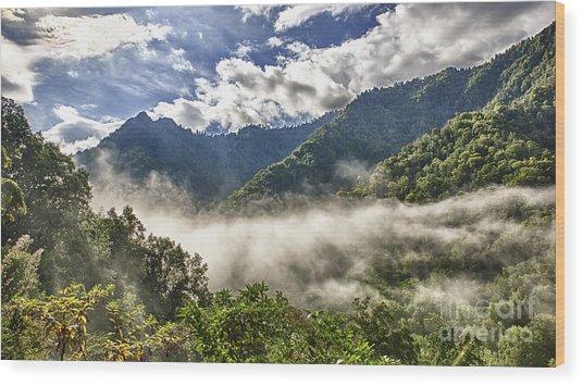 Smoky Mountain Chimney Tops Wood Print