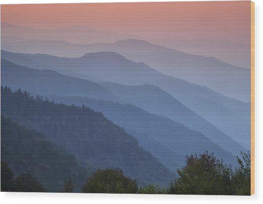 Smoky Mountain Morning Wood Print