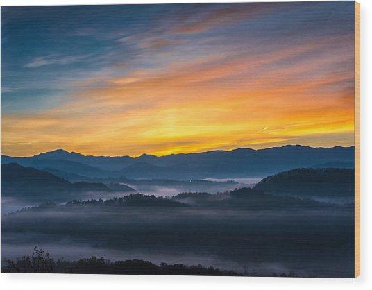 Smoky Mountain Sunrise 1 Wood Print