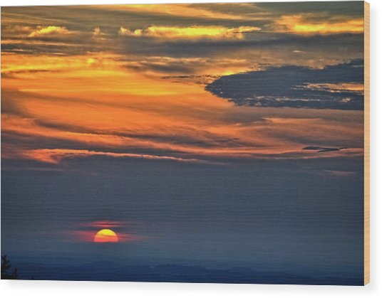 Smoky Mountain Sunset 1 Wood Print