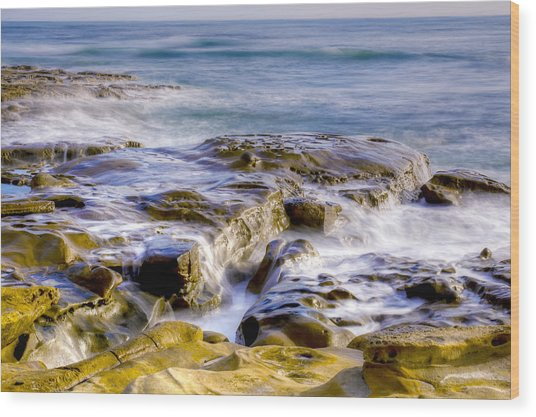 Smoky Rocks Of La Jolla Wood Print