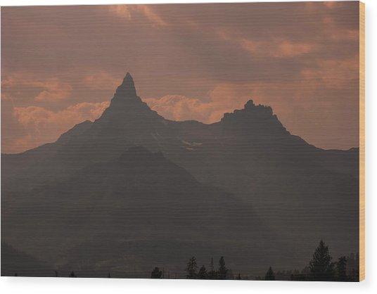 Smoky Sunlight Wood Print