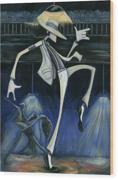 Smooth Criminal Wood Print