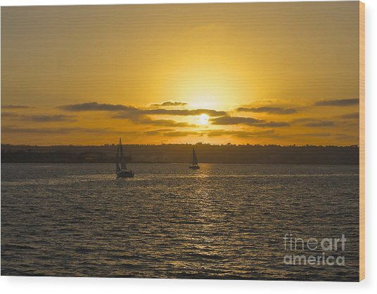 Smooth Sailing Wood Print
