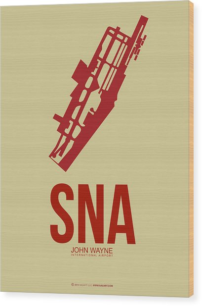 Sna Orange County Airport Poster 2 Wood Print