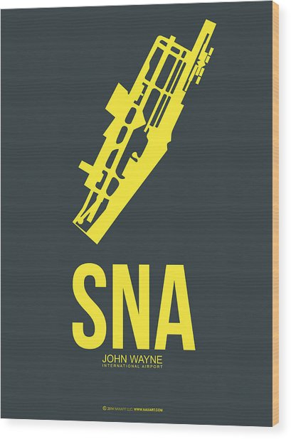 Sna Orange County Airport Poster 3 Wood Print