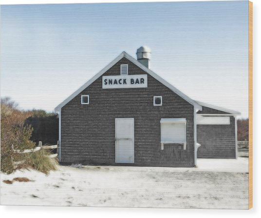 Snack Bar Off-season No. 2 Wood Print by Brooke T Ryan